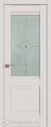 Межкомнатная дверь Профильдорс 2u Дарк Вайт матовое с прозрачным фьюзингом