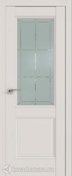 Межкомнатная дверь Профильдорс 90u Дарк Вайт Гравировка 1