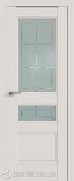Межкомнатная дверь 94u Дарк Вайт Гравировка 1