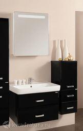 Мебель для ванной Акватон Америна 80 черный глянец