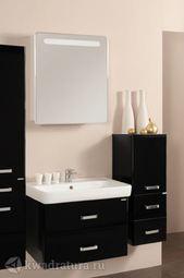 Мебель для ванной Акватон Америна 70 черный глянец