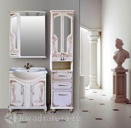 Мебель для ванной Atoll Барселона 75 белое дерево медь