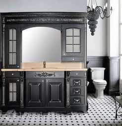 Мебель для ванной Atoll Людовик черный