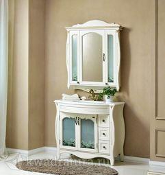 Мебель для ванной Atoll Ривьера 2 белый с золотом ромашка