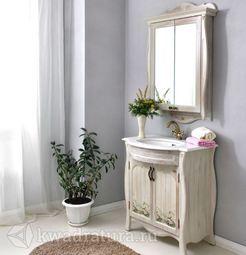 Мебель для ванной Atoll Ривьера белый с ромашками