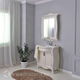 Мебель для ванной Atoll Ривьера патина серебро