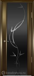 Межкомнатная дверь Платан 3 ДО Венге стекло тон Лиана