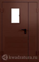 Дверь противопожарная со стеклом ДПМ EI60-02 Ral 8017