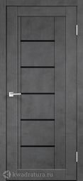 Межкомнатная дверь VellDoris Next 3 Муар темно-серый