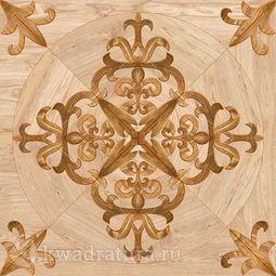 Напольная плитка М-Квадрат Версаль деко коричневый 45х45 см