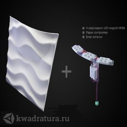 Гипсовые 3D Панели Artpole Sandy2 Led White