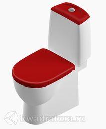 Унитаз-компакт Sanita Luxe Best Luxe красная крышка микролифт