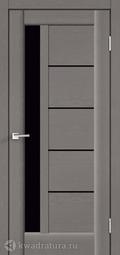 Межкомнатная дверь VellDoris Premier 3 Ясень грей стекло Лакобель черн