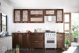 Кухонный набор Селена №52 Каштан 2600 мм