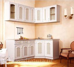 Кухонный набор Селена №981 Дуб белый 2050х1250 мм