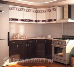 Кухонный набор Селена №981 Венге 2050х1250 мм
